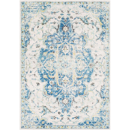 Surya Elaziz Blue Rectangle: 2 Ft. x 3 Ft. Rug