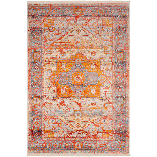 Ephesians Orange Rectangle: 5 Ft. x 7 Ft. 9 In. Rug