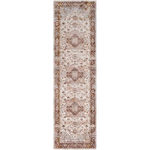 Surya Ephesians Brown Runner: 2 Ft. 7 In. x 9 Ft. Rug
