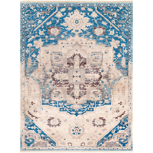 Surya Ephesians Blue Rectangle: 7 Ft. 10 In. x 10 Ft. 3 In. Rug