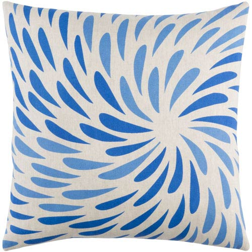 Eye of the Storm Blue 20-Inch Pillow with Down Fill