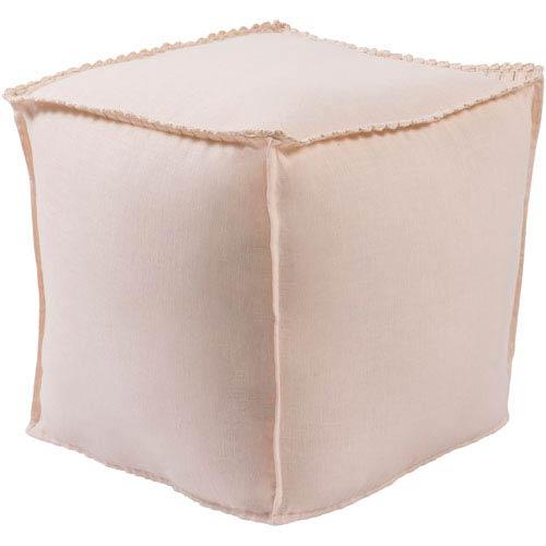 Evelyn Orange Cube Pouf
