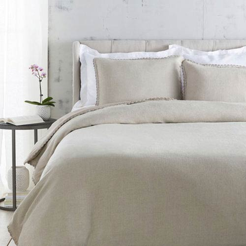 Evelyn Undyed Natural Twin Duvet Set