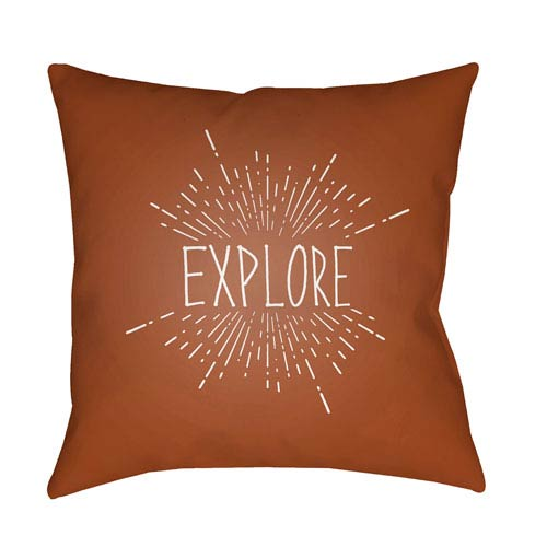 Surya Explore II Brown and White 20 x 20-Inch Throw Pillow