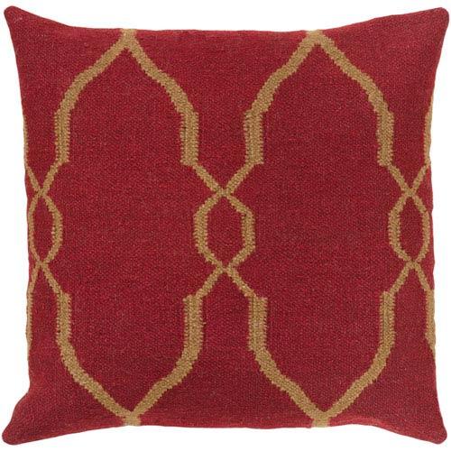 Surya Fallon Maroon 22 x 22 Pillow
