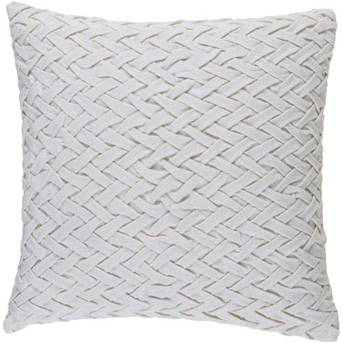 Facade Ivory 18-Inch Pillow with Poly Fill