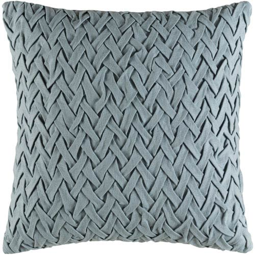 Facade Green 22-Inch Pillow with Poly Fill