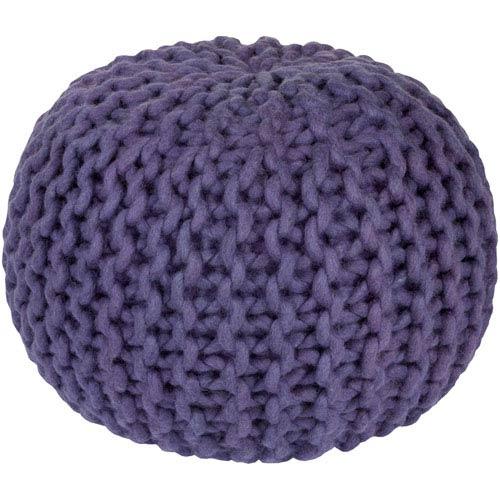 Fargo Purple Sphere Pouf