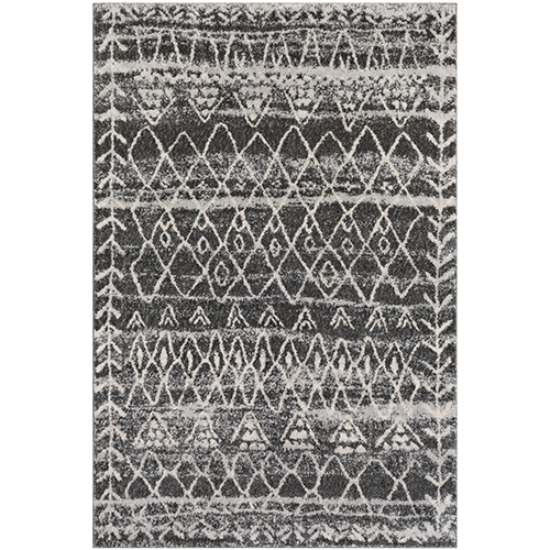 Flokati Black and Grey Rug