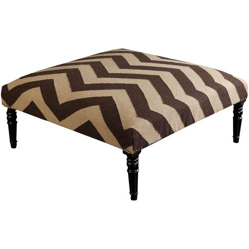 Pompano Olive and Chocolate Ottoman