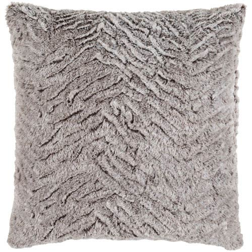 Felina Ivory and Light Gray 22-Inch Pillow with Poly Fill