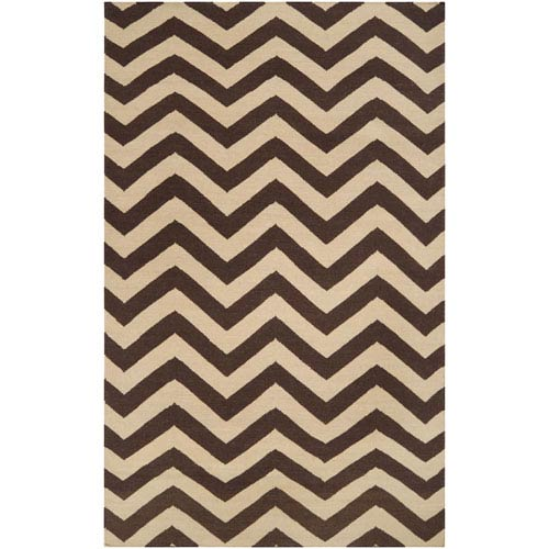 Surya Frontier Dark Brown and Cream Rectangular: 5 ft. x 8 ft. Rug