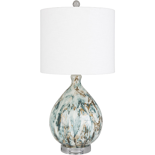 Gabrial Green and Gold One-Light Table Lamp