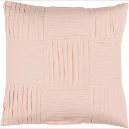 Gilmore Salmon 20-Inch Pillow with Poly Fill