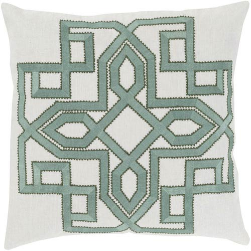 Gatsby Gray and Green 18-Inch Pillow Cover