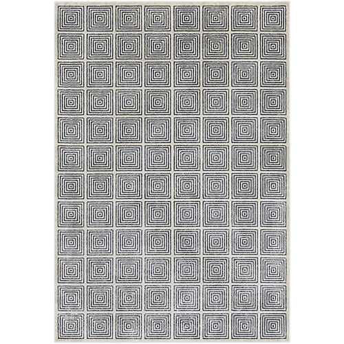 Lagom Navy and Ivory Rectangular: 9 Ft. 3 In. x 12 Ft. 3 In. Rug