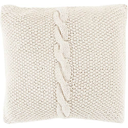 Genevieve Neutral 20-Inch Pillow Cover