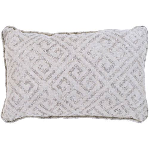 Geonna Ivory and Taupe 16 x 16 In. Throw Pillow