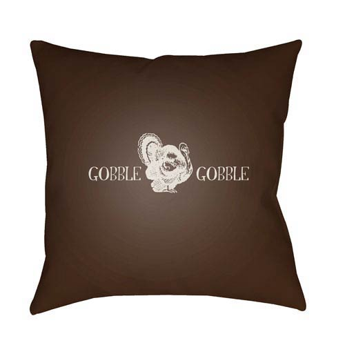 Brown Gobble Gobble 20-Inch Throw Pillow with Poly Fill
