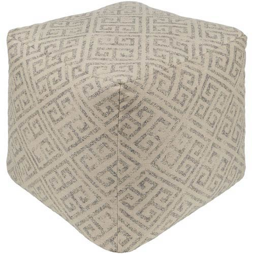 Geonna Ivory and Tan Pouf