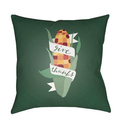 Green Corn 20-Inch Throw Pillow with Poly Fill