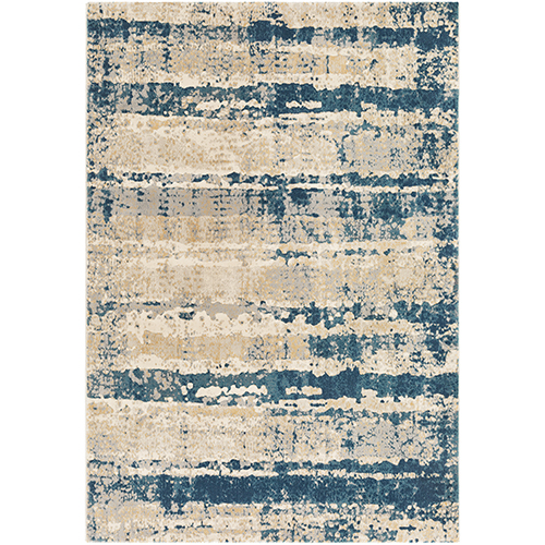 Cash Teal and Taupe Rectangular: 5 Ft. 3 In. x 7 Ft. 6 In. Rug