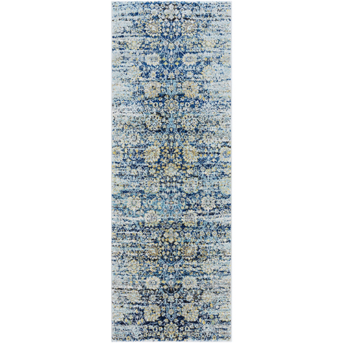 Harput Blue Runner: 2 Ft. 7 In. x 7 Ft. 3 In. Rug