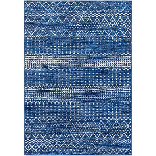 Harput Bright Blue Rectangular: 6 Ft. 7 In. x 9 Ft. Rug