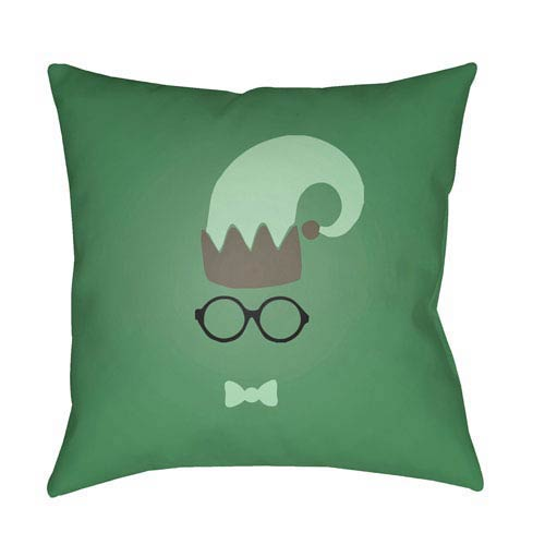 Green Elf 20-Inch Throw Pillow with Poly Fill
