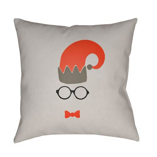 Gray Elf 18-Inch Throw Pillow with Poly Fill