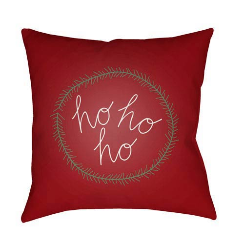 Red Hohoho 20-Inch Throw Pillow with Poly Fill