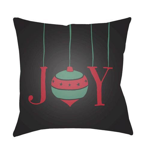 Black Joy 18-Inch Throw Pillow with Poly Fill