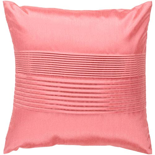 Surya Light Coral 22 x 22 Pleated Pillow