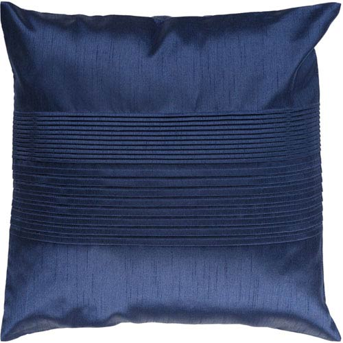 Surya Navy 22 x 22 Pleated Pillow