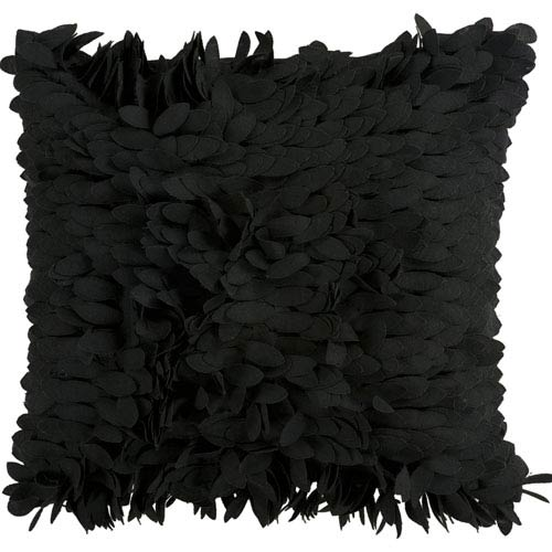 Claire Black 22-Inch Pillow Cover