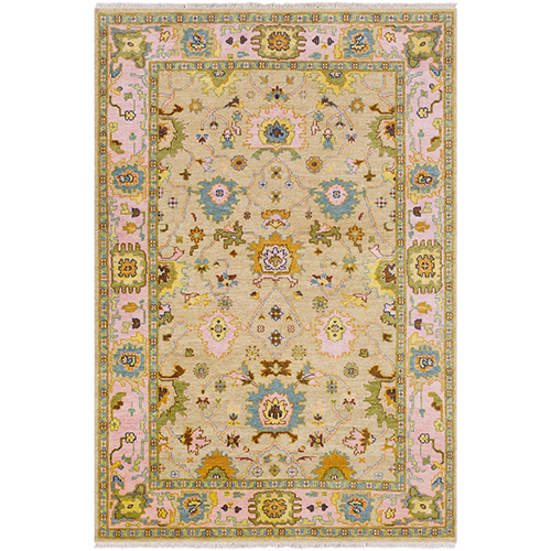 Hillcrest Pink and Sand Rectangular: 8 Ft. x 11 Ft. Rug