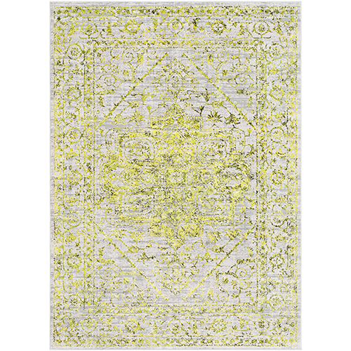 Himalayan Yellow and Grass Green Rectangular: 7 Ft. 10 In. x 10 Ft. 3 In. Rug