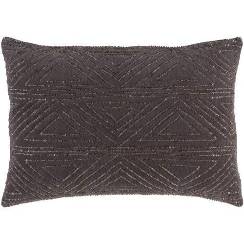 Surya Hira Charcoal 13 x 19-Inch Pillow Cover