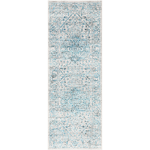 Himalayan Pale Blue Runner: 2 Ft. 7 In. x 7 Ft. 3 In. Rug