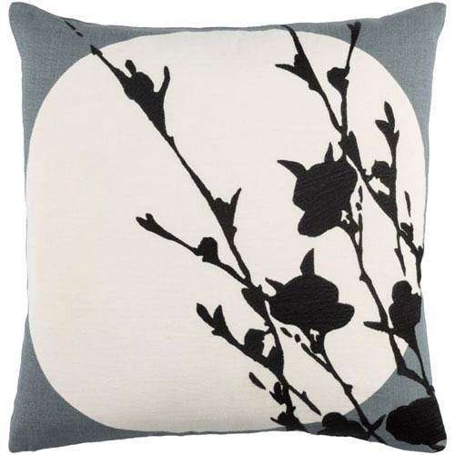 Harvest Moon Gray and Neutral 18-Inch Pillow Cover