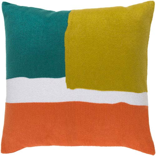 Harvey Blue and Green 20-Inch Pillow Cover
