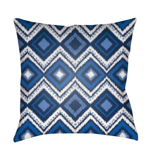 Surya Decorative Pillows Blue and White 20 x 20-Inch Throw Pillow