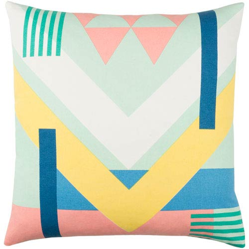 Surya Lina Multicolor 20 x 20-Inch Pillow Cover