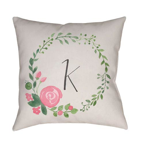 Surya Initials II Multicolor 20 x 20-Inch Throw Pillow