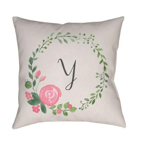 Surya Initials II Multicolor 18 x 18-Inch Throw Pillow