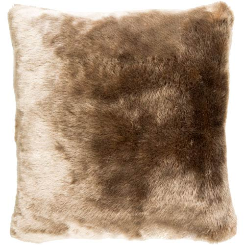 Innu Brown 18-Inch Pillow with Down Fill