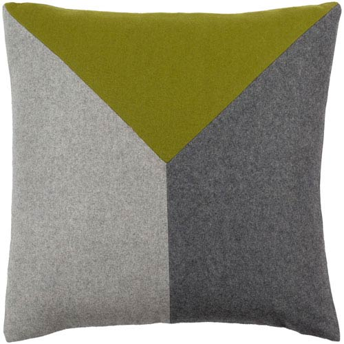 Jonah Green and Black 20-Inch Pillow Cover