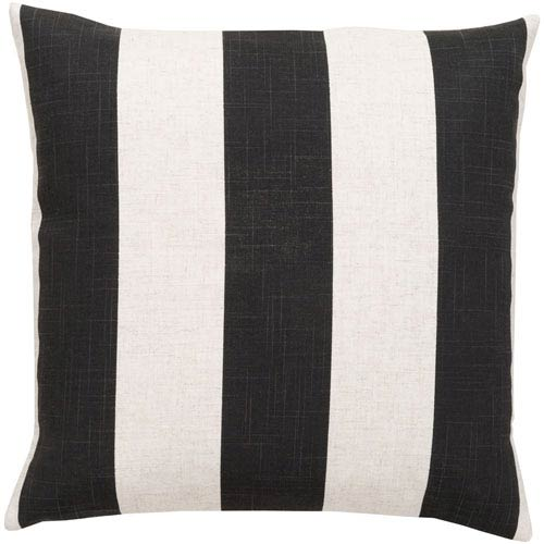 Simple Stripe Black and Neutral 18-Inch Pillow Cover