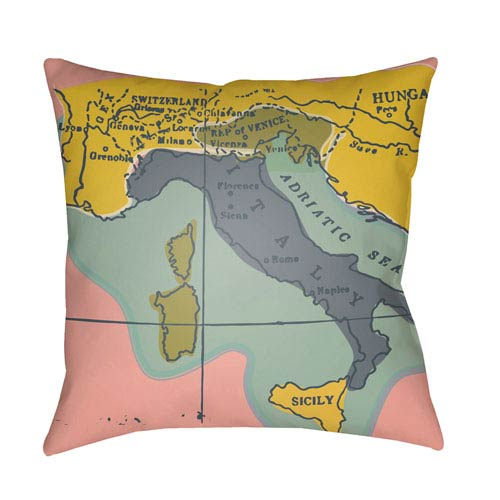 Surya Jetset Multicolor 22 x 22-Inch Pillow