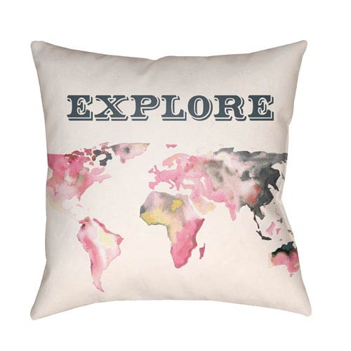 Surya Jetset Multicolor 18 x 18-Inch Pillow